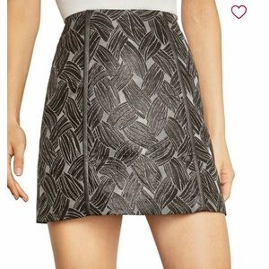 BCBG MAXAZRIA Basket Weave Jacquard Mini Skirt XS